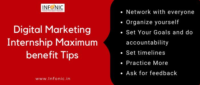 Digital Marketing Internship Maximum benefit Tips