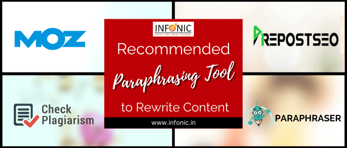 Recommended paraphrasing Tools to Rewrite Content